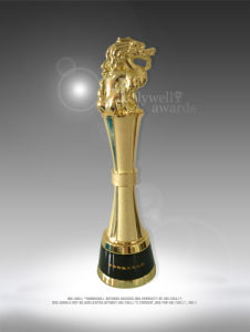 High-End Custom Real Estate Award with an Embossed Logo for Ceremony Use
