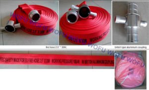 "2.5"" Fire Hose with British Aluminum Coupling pictures & photos"