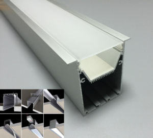 Large Recessed Aluminum LED Strip Profile for Ceiling Lights pictures & photos