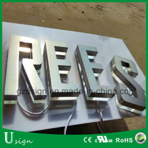 LED Advertising Brushed Finished Metal Letter with Acrylic Backing pictures & photos