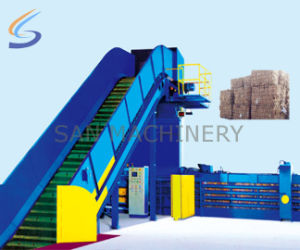 Automatic Waste Paper Baling Production Line pictures & photos