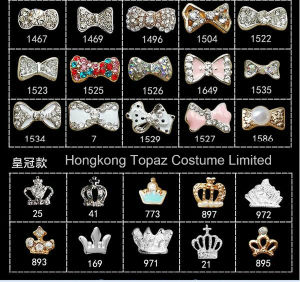 2016 Bow Crown Finger Nails Nail 3D Decoration Nail Stones Rhinestone Jewelry Nail (Bow crown 25-1586) pictures & photos