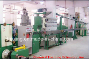 Manufacturing Equipment Twin Layers Chemical Foaming Cable Extrusion Line for Communication Cable pictures & photos