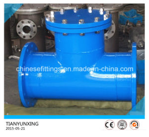 Dn350 Ductile Iron Tee Type Strainer with Epoxy Coating pictures & photos