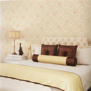 Eco-Friendly Design Wallpaper Pink PVC Discount Wallpaper pictures & photos