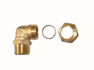 Elbow Brass Fitting (L-22Cx3/4M-NPT) pictures & photos