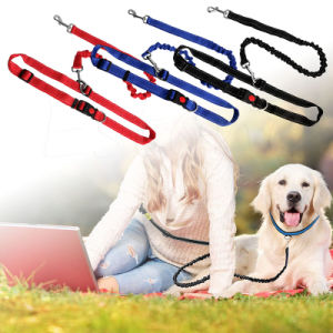 Running Dog Leash Hands Free Adjustable Bungee Reflective Stitch for Walking Hiking pictures & photos