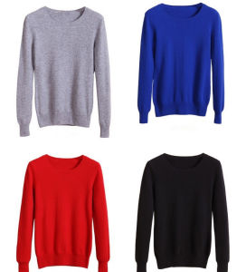 OEM Logo Lady Fashion Knitted Sweater pictures & photos