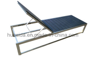 Stainless Steel Poly Wood Lounger Using in Beach Garden Swmming Pool pictures & photos