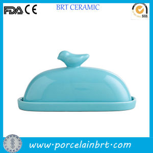 Bird on Lid Decorative Ceramic Butter Dish pictures & photos