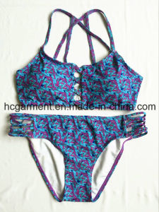 Blue Print Weave Sexy Beach bikini for Women/Girl, Swimming Wear Swimsuit/Bra pictures & photos