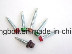 Hex Washer Head Self Drilling Screw with Bonded Washer Head Painted pictures & photos