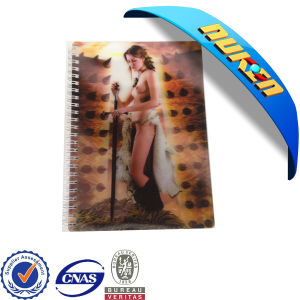 Custom Spiral 3D Cover Notebook pictures & photos