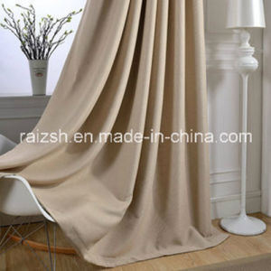 Modern Minimalist Living Room Blackout Thick Solid Color Linen Curtains