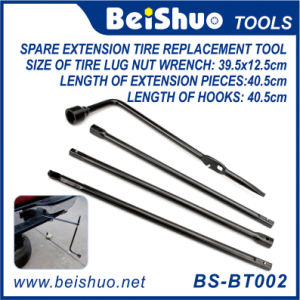 5 Piece Lug Wrench Extension Steel Kit Premium Spare Tire Tool pictures & photos
