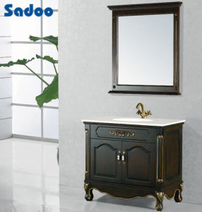 Antique Solid Wood Bathroom Cabinet (SD 38315A)