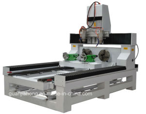 2210-6, Multi-Spindle, Yaskawa Servo, Nc Studio, Hiwin Rail, 2D and 3D Rotary, 4 Axis Wood CNC Router pictures & photos