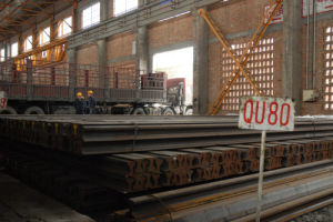 Crane Rail Qu80 Steel Rail Heavy Rail (YB/T5055-93 )