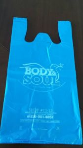 Plastic Printed HDPE T-Shirt Bag pictures & photos