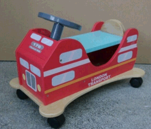 New Design Wooden Doble-Decker Bus Ride on Glide pictures & photos