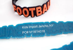 OEM Soft PVC Bracelet with Logo Printing (BR007) pictures & photos