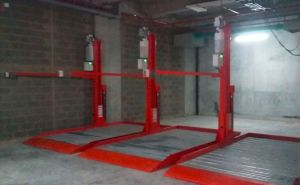 Two Post Automatic Hydraulic Double Car Parking Lift System pictures & photos