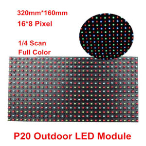 Outdoor P20 Full-Color 320*160mm 16*8 Pixels LED Display Module for P20 Outdoor RGB Door Head Dazzle Colour Display Screen pictures & photos