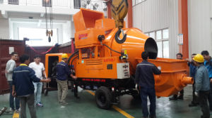 Towable Diesel Engine Concrete Mixing Pump with 500L 350L Mixing Capacity pictures & photos