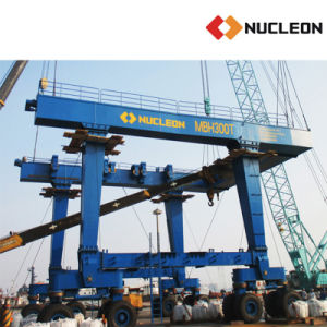 China Leading Manufacturer Marine Rubber Tyre Mobile Gantry Crane pictures & photos