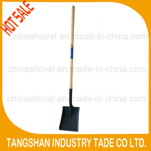 Hot Sale - Long Wood Handle Steel Square Shovel pictures & photos