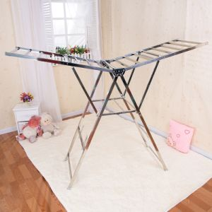 Stainless Steel Butterfly Shape Laundry Rack (178c)