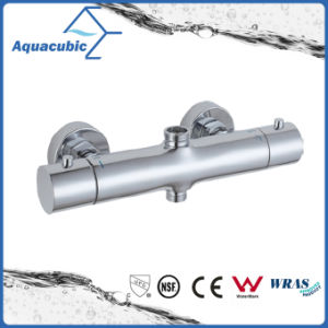 Bathroom Thermostatic Chrome Round Bar Mixer Shower Valve (AF4313-7) pictures & photos