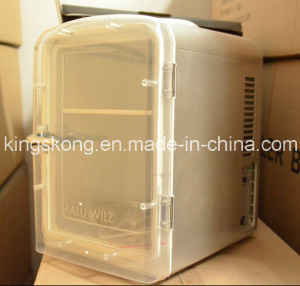 Mini Fridge with Plastic Transparent Door pictures & photos