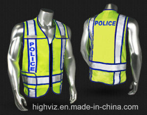 Police Reflective Vest with ANSI07 Certificate (PL-001) pictures & photos