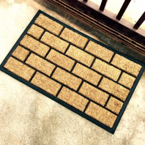 Rubberized Embossed Mouled Brush Rubber Backed Outdoor Coco Coir Coconut Fiber Door Mats pictures & photos