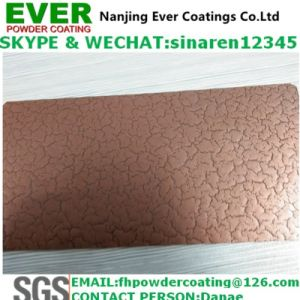 Electrostatic Spray Crack Effect Finish Copper Color Powder Coating pictures & photos