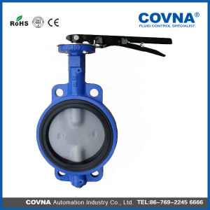 Medium Temperature Ductile Iron Wafer Butterfly Valve for Water pictures & photos