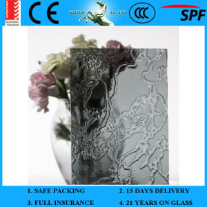 3-8mm En12150 Clear Colored Plant Green Mayflower Pattern Patterned Glass with AS/NZS 2208 pictures & photos