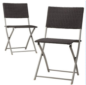 Resin Wicker Garden Outdoor Furniture Rattan Folding Chair