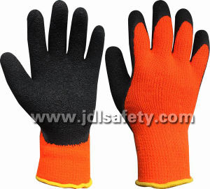 Acrylic Work Glove of Latex Coating on Palm&Thumb (LY2036T) pictures & photos