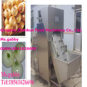 Onion Peeler and Root Cutter Machine pictures & photos