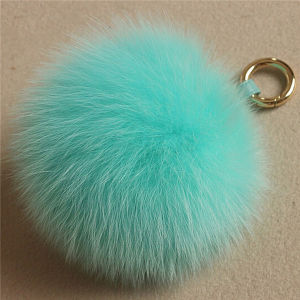 Professional Silver Fox Fur Pompom Made in China pictures & photos