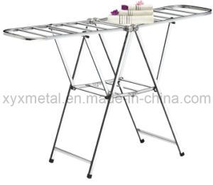 Folding Stainless Steel Drying Metal Coat Clothes Airer pictures & photos