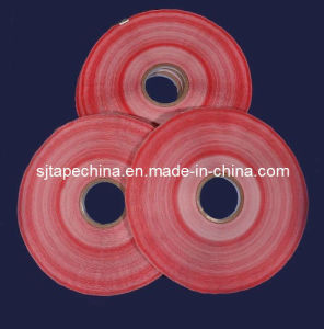 Red Film Low Tack Adhesive Tape for Plastic Bag (SJ-HDPR05) pictures & photos