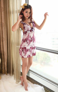 Babydoll with Purple Grape Pattern #SL-98