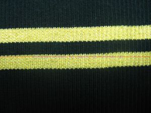 Knitted Fabrics with Golden Line
