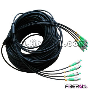Indoor Armored Multi-Core Fan-out Optical Fiber Patch Cable pictures & photos