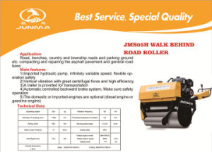 Mini Hand Road Roller 0.5 Ton Factory Price (JMS05H) pictures & photos