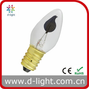 Flame C7 E14 Flicker Incadescent Bulb