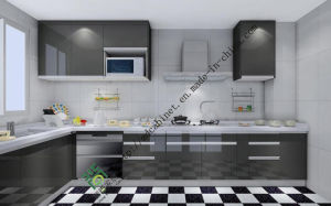 Maple Shaker Door Style Kitchen Cabinets (ZS-141) pictures & photos